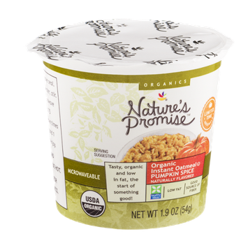 Nature's Promise Organic Instant Oatmeal Pumpkin Spice