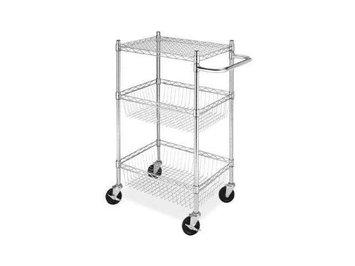 Whitmor 6057-4308-BB Commerical 3 Tier Basket Cart