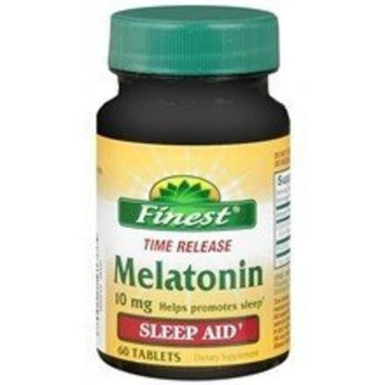 Finest Melatonin 10mg Time Released - 4 Bottles of 60 Tablets - 240 Total