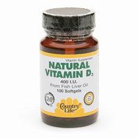 Country Life Natural Vitamin D3 400 IU