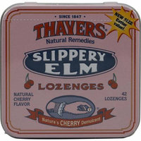 Thayers Slippery Elm Lozenges Cherry 42 Lozenges Case of 10