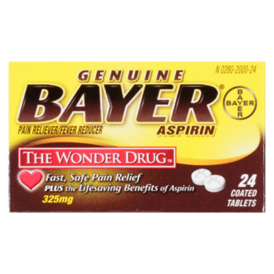 Bayer Aspirin Tablets - 325 mg - 24 ct