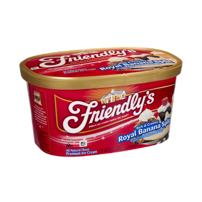 Friendly's Rich & Creamy Royal Banana Split Premium Ice Cream