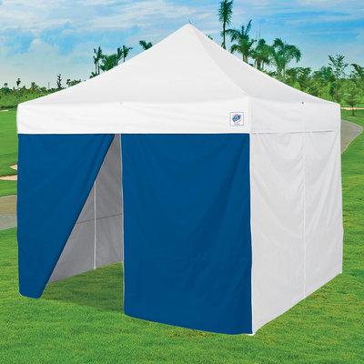 International E-z Up, Inc. Middle Zipper Instant Shelter Sidewall - Blue
