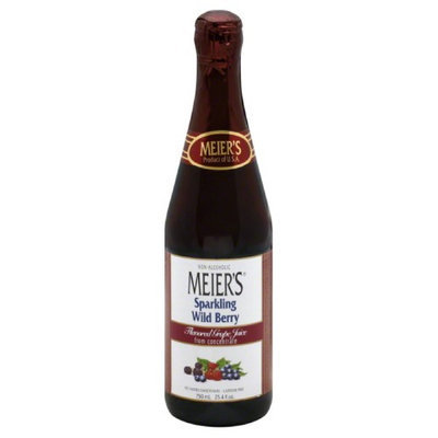 Meiers Sparkling Wild Berry 100% Juice, 25. 4 oz, - Pack of 12