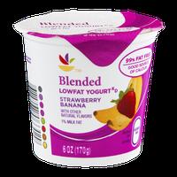 Ahold Blended Lowfat Yogurt Strawberry Banana