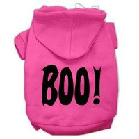 Mirage Pet Products BOO! Screen Print Pet Hoodies Bright Pink Size XS (8)
