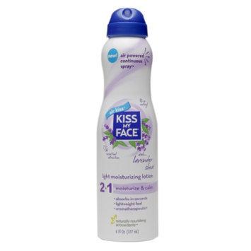 Kiss My Face 2 in 1 Light Moisturizing Lotion, Lavender & Shea, 6 fl oz