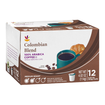 Ahold Colombian Blend 100% Arabica Coffee Single Serving Cups - 12 CT