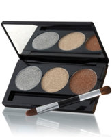 Laura Geller Beauty Creme Glaze Baked Eyeshadow Trio with Mini Shadow/Liner Brush, Golden Sunset, .1 oz