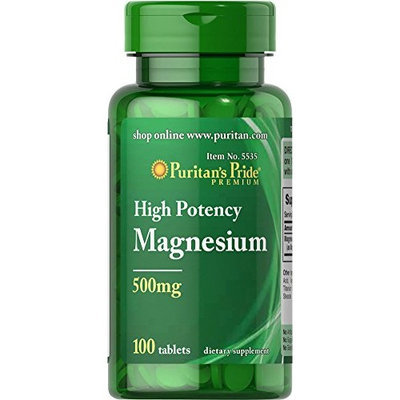 Puritan's Pride Magnesium 500 mg-100 Tablets
