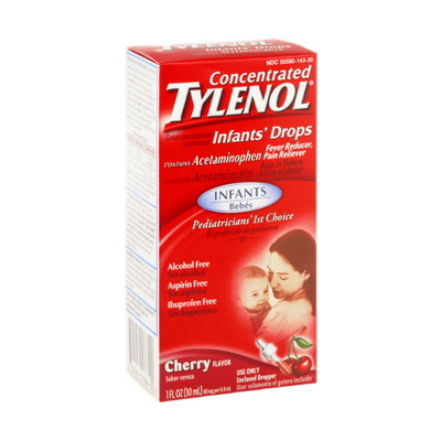 Tylenol Concentrated Infants Drops Acetaminophen Cherry Flavor