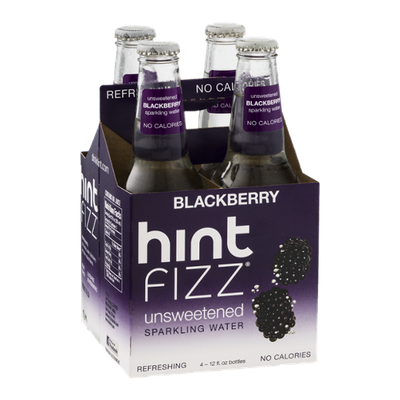 Hint Fizz Unsweetened Sparkling Water Blackberry - 4 CT