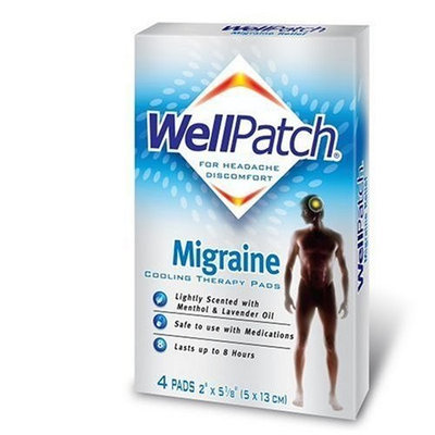 WellPatch Well Patch Cooling Headache Pads, Migraine (Pack of 2)