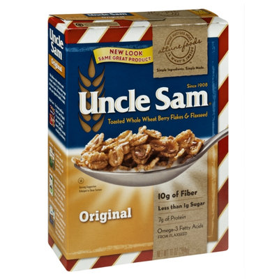 Attune Foods Uncle Sam Original Toasted Whole Wheat Berry Flakes & Flaxseed Cereal