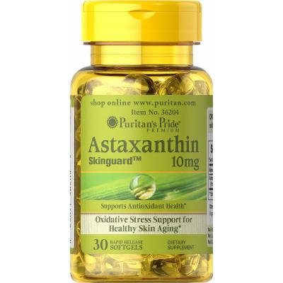 Puritan's Pride Natural Astaxanthin 10 mg-30 Softgels