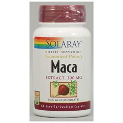 Solaray Maca Extract - 300 mg - 60 Capsules