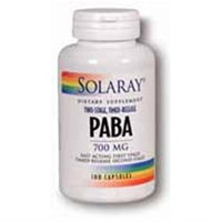 Solaray Two-Staged Tim/Release Pab 700 MG - 100 Capsules - PABA