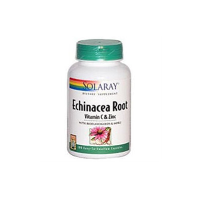 Solaray Echinacea Root with Vitamin C and Zinc - 100 Capsules