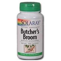 Solaray Butcher's Broom - 440 mg - 100 Capsules