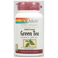 Solaray Green Tea Double Strength - 30 Capsules - Other Herbs