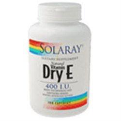 Solaray Dry Vitamin E with Hawthorn - 400 IU - 100 Capsules