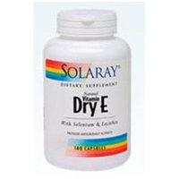 Solaray Dry Vitamin E plus Selenium and Lecithin - 200 IU - 100 Capsules