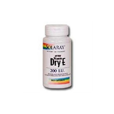 Solaray Dry Vitamin E - 200 IU - 100 Capsules