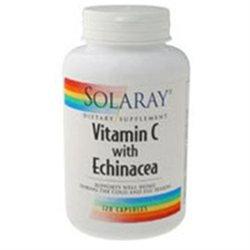 Solaray Vitamin C with Echinacea - 1000 mg - 120 Capsules