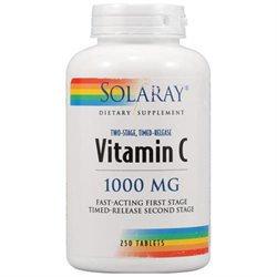Solaray Vitamin C - 1000 mg - 250 Tablets