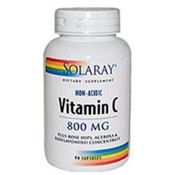 Solaray Vitamin C - 800 mg - 90 Capsules