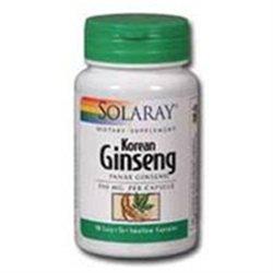 Solaray Korean Ginseng Root - 550 mg - 100 Capsules