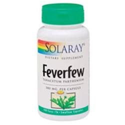 Solaray - Feverfew (Tanacetum Parthenium), 380 mg, 100 capsules