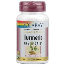 Solaray Turmeric One Daily - 30 Vegetarian Capsules