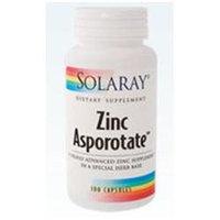Solaray Zinc Asporotate - 100 Capsules