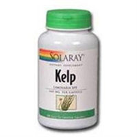 Solaray Kelp with Folic Acid - 180 Vegetarian Capsules