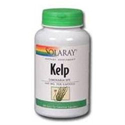 Solaray Kelp with Folic Acid - 180 Vegetarian Capsules
