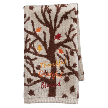 Harvest Thankful Tree Fingertip Towel, Multicolor