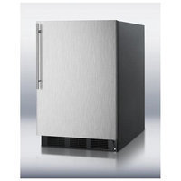 Summit FF6BBISSHV 5.5 Cu. Ft. Stainless Steel Undercounter Built-In Compact Refrigerator