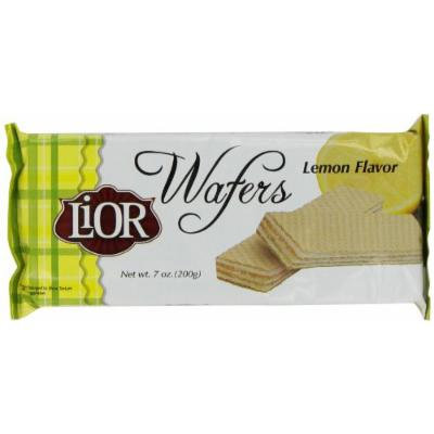 LiOR Lemon Wafer, 7-Ounce Packages (Pack of 24)