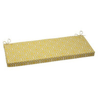 Pillow Perfect Outdoor Bench Cushion - Yellow/White Starlet