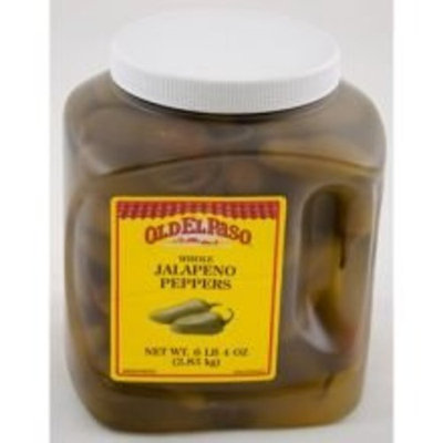 Pillsbury El Paso Whole Jalapeno Peppers - 100 oz. jug, 4 jugs per case