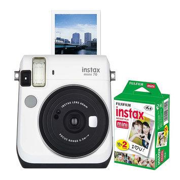 Fujifilm Instax Mini 70 Instant Camera Bundle, White
