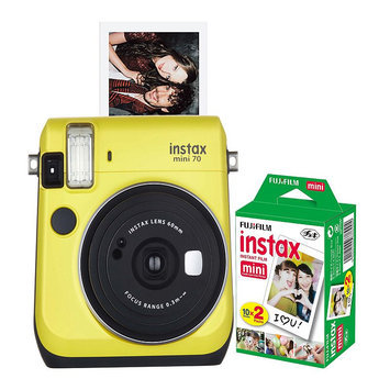 Fujifilm Instax Mini 70 Instant Camera Bundle, Yellow