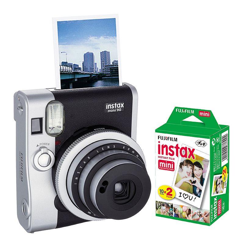 Fujifilm Instax Mini 90 Neo Classic Instant Camera Bundle, Black