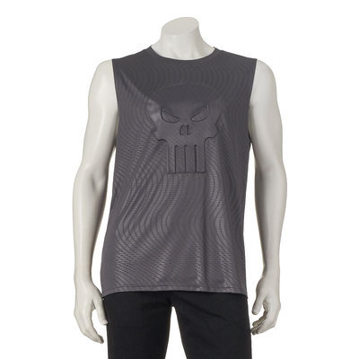 Men's Marvel The Punisher Muscle Tee, Size: XL, Med Grey