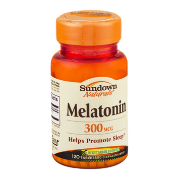 Sundown Naturals Melatonin 300mcg Tablets - 120 CT
