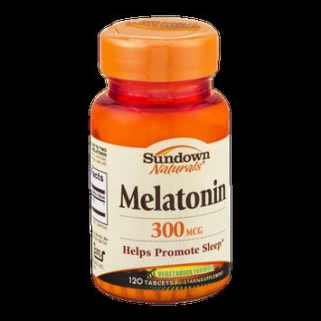 Sundown Naturals Melatonin 300mcg Tablets - 120 CT
