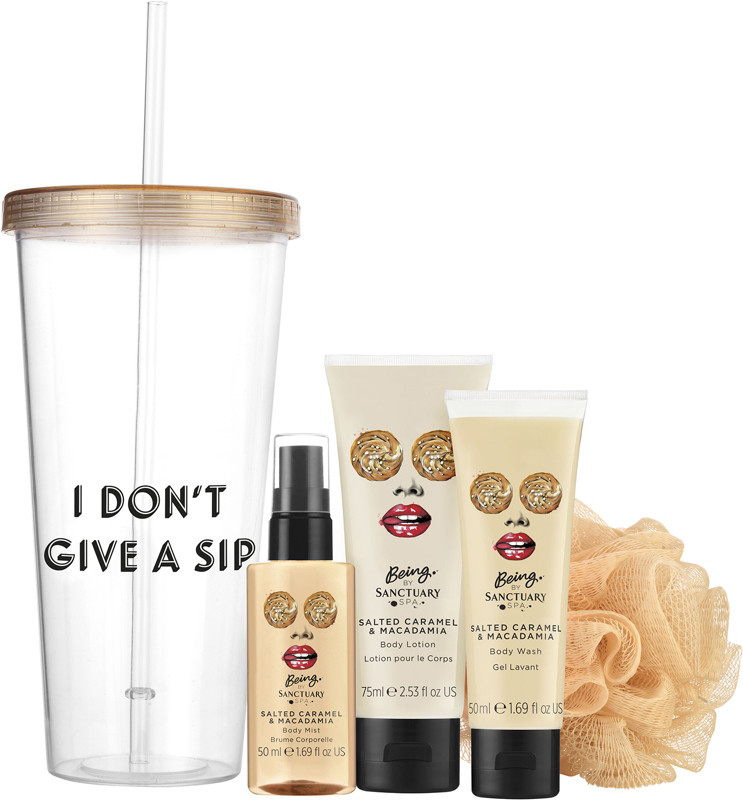 Being I Don't Give a Sip Tumbler & Bath Gift Set