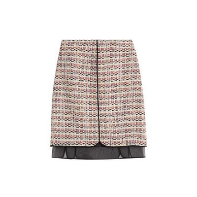 Giambattista Valli Bouclé Skirt with Chiffon - multicolor
